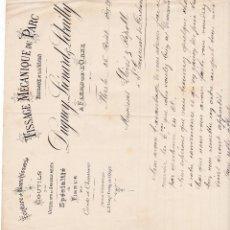 Facturas antiguas: TISSAGE MÉCANIQUE DU PARC FLERS FRANCIA 1902. Lote 112958399