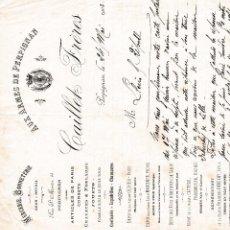 Facturas antiguas: AUX ARMES DE PERPIGNAN FRANCIA 1903. Lote 112958663