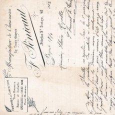 Facturas antiguas: MANUFACTURE DE CHAUSSURES FRANCIA 1903. Lote 112958771