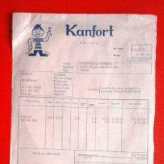Facturas antiguas: FACTURA DE KANFORT. 1964. Lote 113578771
