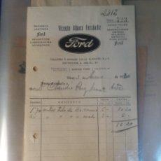Facturas antiguas: ALCOY REPUESTOS LEGÍTIMOS FORD.1930. Lote 114016836