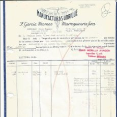 Factures anciennes: FACTURA MANUFACTURAS UBRIQUE 1968. Lote 115609215