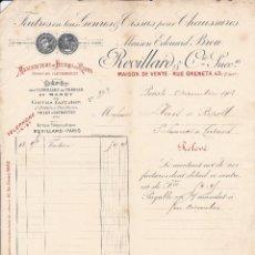 Fatture antiche: FACTURA FRANCIA PRINCIPIOS SIGLO XX.. Lote 119214835