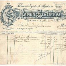Facturas antiguas: FACTURA- RAMÓN SENESTEVA. FÁBRICAS DE TEJIDOS DE ALGODÓN. BARCELONA- 1920. Lote 120207639