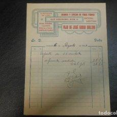 Facturas antiguas: FACTURA DE GRANADA ALMACENES DE LOZA CRISTAL PORCELANA CUADROS JOSE RUIBO MOLINA 1923. Lote 120622559
