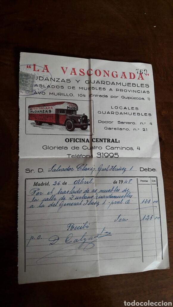 factura guarda muebles la vascongada-madrid 194 - Comprar Facturas ...