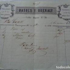 Facturas antiguas: TARRAGONA. 1856. BASOLS Y QUERALT. PAÑOS Y LIENZOS.. Lote 122860451