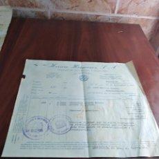 Facturas antiguas: FACTURA HERRERO HERMANOS S.A. LA INVENCIBLE LA CORUÑA 1939. Lote 123724951