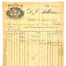 Facturas antiguas: FACTURA FÁBRICA DE GÉNEROS DE LANA D. Y C. PALLARÉS. SABADELL BARCELONA 1924. Lote 124289055