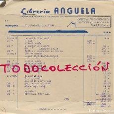 Facturas antiguas: LIBRERIA ANGUELA - TARRAGONA - 2 FACTURAS AÑO 1965. Lote 124553715