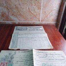 Facturas antiguas: FACTURA LETRA SAN FELIU DE PALLAROLS GERONA FABRICA EMBUTIDOS CARLOS MARTIN 1928 . Lote 125308015