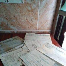 Facturas antiguas: LOTE 3 FACTURA LETRA FABRICA EMBUTIDOS FELANITX MALLORCA BARCELONA 1928. Lote 125309183