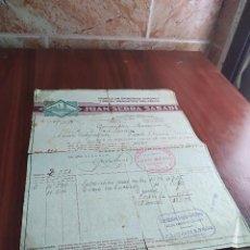 Facturas antiguas: FACTURA FABRICA DE EMBUTIDOS GERONA JUAN SERRA SABADI 1932. Lote 125311527