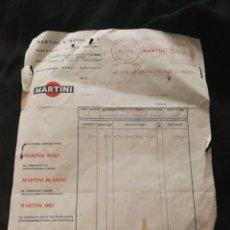 Facturas antiguas: FACTURA MARTINI 1965. Lote 125319050
