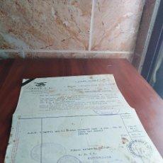 Facturas antiguas: FACTURA MALAGA LARIOS S.A. 1938 PERIODO GUERRA CIVIL. Lote 125412527