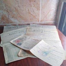 Facturas antiguas: LOTE FACTURAS / LETRA LA CALA MALAGA LA SIRENA BARO RIOS CONSERVAS AÑOS 30 LEER. Lote 125416483