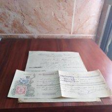 Facturas antiguas: FACTURA / LETRA ALHAURIN EL GRANDE MALAGA FRANCISCO GONZALEZ FABRICA DE SALCHICHON 1928. Lote 125823795
