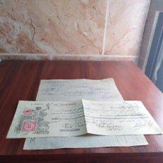 Facturas antiguas: FACTURA / LETRA MALAGA CONSERVAS SALVADOR LOPEZ 1935. Lote 125825979