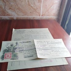 Facturas antiguas: FACTURA / LETRA EL PALO MALAGA MIGUEL MARTINEZ EL PORTADOR DE PESCADO1935. Lote 125828955