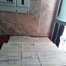 Facturas antiguas: LOTE FACTURAS / LETRAS MALAGA EXPORTACION LUIS CAÑAS SOLANO PERIODO GUERRA CIVIL . Lote 125832879