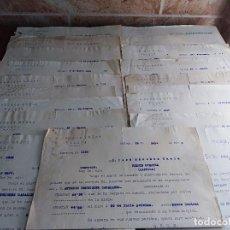 Facturas antiguas: LOTE FACTURA / LETRAS MALAGA ORTEGA MUÑOZ CONSERVAS AÑOS 30 LEER. Lote 125842659