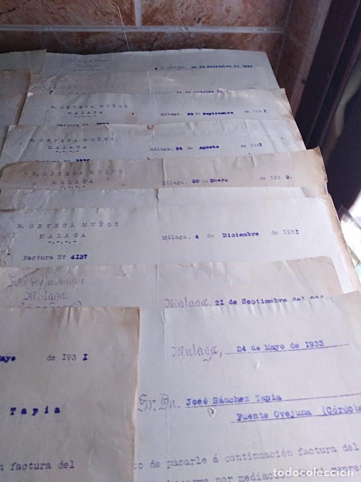 Facturas antiguas: lote factura / letras malaga ortega muñoz conservas años 30 leer - Foto 2 - 125842659
