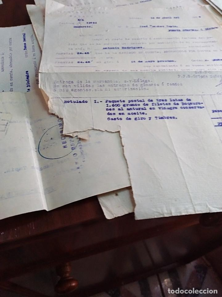 Facturas antiguas: lote factura / letras malaga ortega muñoz conservas años 30 leer - Foto 5 - 125842659