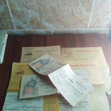 Facturas antiguas: LOTE FACTURA / LETRA JEREZ DE LOS CABALLEROS BADAJOZ CAFE EL AUTOMOVIL VINO FRANCISCO BERJANO . Lote 126273611