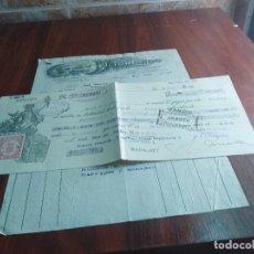 Facturas antiguas: FACTURA / LETRA BADAJOZ CAFE I. TORRADO 1934 . Lote 126279083