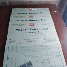 Facturas antiguas: LOTE 3 FACTURAS CALZADO LLOSETA MALLORCA MIGUEL RAMON FIOL 1953. Lote 126669043