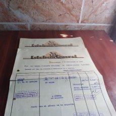 Facturas antiguas: LOTE 2 FACTURAS TARRASA BARCELONA ESTEBAN QUEROL LANAS 1953 . Lote 126669727