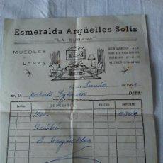 Facturas antiguas: 69-FACTURA COMERCIAL ESMERALDA ARGUELLES SOLIS, LA CUBANA, MIERES, 1968. Lote 129360983