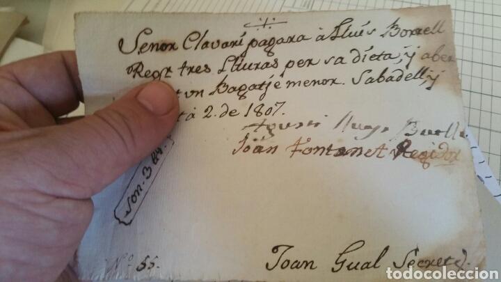 DOCUMENTO O RECIBO DE PAGO AÑO 1807 SABADELL (Coleccionismo - Documentos - Facturas Antiguas)
