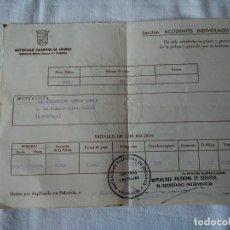 Facturas antiguas: 88-RECIBO MUTUALIDAD PALENTINA DE SEGUROS, 1975. Lote 130732469