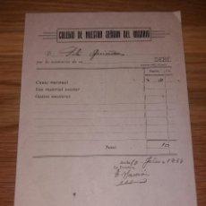 Facturas antiguas: PAPEL ANTIGUO. COLEGIO NUESTRA SEÑORA DEL ROSARIO. 1944, RECIBO O FACTURA, GRÁFICAS SAIZ. Lote 132669422