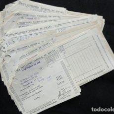 Facturas antiguas: 29 FACTURAS RECIBOS COMPAÑÍA TELEFÓNICA NACIONAL DE ESPAÑA. AÑOS 1958, 60 Y 61.. Lote 132845282