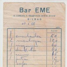 Facturas antiguas: FACTURA 1966 BAR EME. Lote 134807034