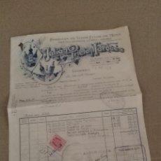 Facturas antiguas: FACTURA ANIS VINO VALDEPEÑAS CIUDAD REAL JULIAN PRIETO 1939. Lote 134831234