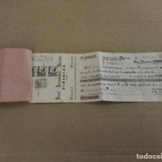 Facturas antiguas: DOCUMENTO BANCARIO LETRA PLASENCIA CACERES PIMENTON JOSE HERNANDEZ 1938 . Lote 135007226