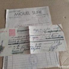 Facturas antiguas: FACTURA/LETRA ZARAGOZA BORJA MIGUEL AZAFRANES SAN JOSE GUERRA CIVIL 1938. Lote 135039758