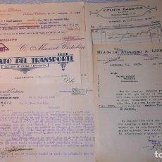 Facturas antiguas: LOTE FACTURAS ANTIGUAS, VALENCIA, AÑO 1938.EPOCA GUERRA CIVIL. Lote 135358734