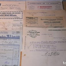 Facturas antiguas: LOTE FACTURAS ANTIGUAS, VALENCIA, AÑO 1937.EPOCA GUERRA CIVIL. Lote 135358930
