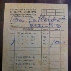 Facturas antiguas: CHUPA CHUPS. ALBARÁN DEL AÑO 1966. ANTES GRANJA ASTURIAS S.A.. Lote 135640467