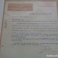 Facturas antiguas: SEVILLA. FAUSTINO MARTÍNEZ. FABRICA DE HILADOS. 1931. Lote 136421530