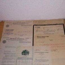 Facturas antiguas: LOTE FACTURAS ANTIGUAS, VALENCIA, AÑO 1937, EPOCA GUERRA CIVIL. Lote 136670134