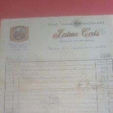 Alte Rechnungen - Factura recibo 1953 colchoneria Barcelona. Sello timbre - 136817006