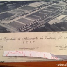 Facturas antiguas: FACTURAS SEAT 600 D DESCAPOTABLE, Y FACTURA MOTO VESPA.. Lote 137224942