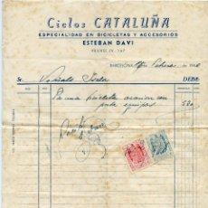 Facturas antiguas: CICLOS CATALUÑA. Lote 137244946