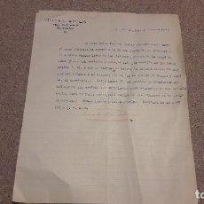 Facturas antiguas: ANTIGUA CARTA ESCRITA EN EL HOTEL ÁVILA...BURGOS....1933.... Lote 137436754