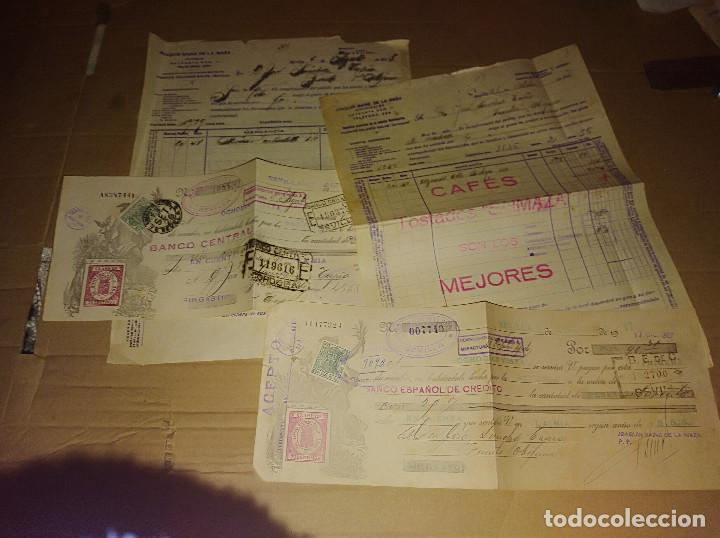 LOTE 5 FACTURA / LETRA SEVILLA JOAQUIN SAINZ DE LA MAZA CAFE SAIMAZA 1927 -28 (Coleccionismo - Documentos - Facturas Antiguas)